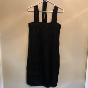 Banana Republic black slip dress